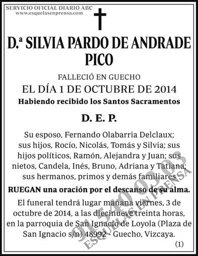 Silvia Pardo de Andrade Pico